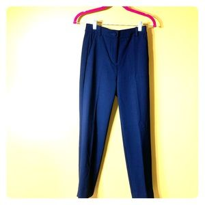 J Crew 365 Cameron High Rise Crop Pant in Navy
